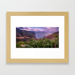 Greek Peninsula Landscape Framed Art Print