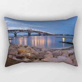 Twilight at Yorktown Beach Rectangular Pillow