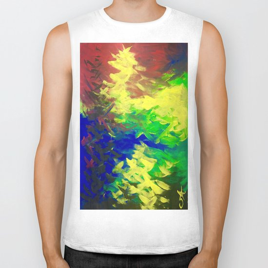 Peacock. Mimosa Inspired Primary Colors. Peacock. Biker Tank