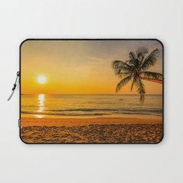 Beautiful Sunset over the Beach Laptop Sleeve