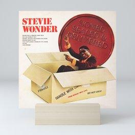 stevie wonder signed sealed 2021 Mini Art Print