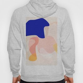 Modern Abstract Peach Pink Navy Blue Yellow Pattern Hoody