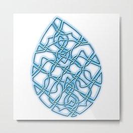 Crystal Tear Metal Print