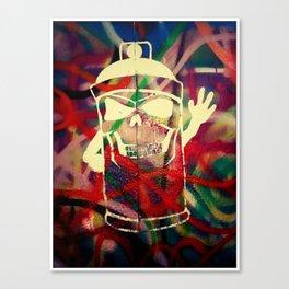 Graffiti Sprayer Canvas Print