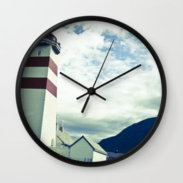 Lighthouse in norway Wall Clock
