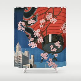 Tokyo, travel poster, 1930s Shower Curtain