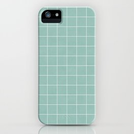 Small Grid Pattern - Light Blue iPhone Case