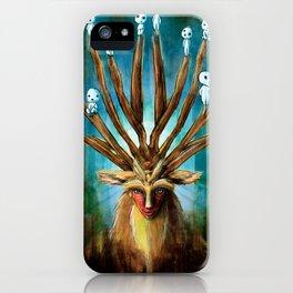 Princess Mononoke The Deer God Shishigami Tra Digital Painting. iPhone Case