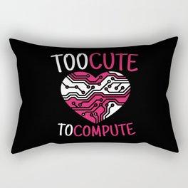 Too Cute To Compute Computer Scientist Hacker It Rectangular Pillow