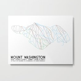 Mount Washington Alpine Resort, BC, Canada - Minimalist Trail Art Metal Print