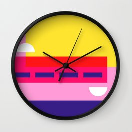 Bright Abstract I Wall Clock