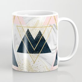 Elegant geometric and confetti golden design Coffee Mug