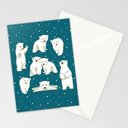 Cute Polar Bear Cubs Stationery Cards