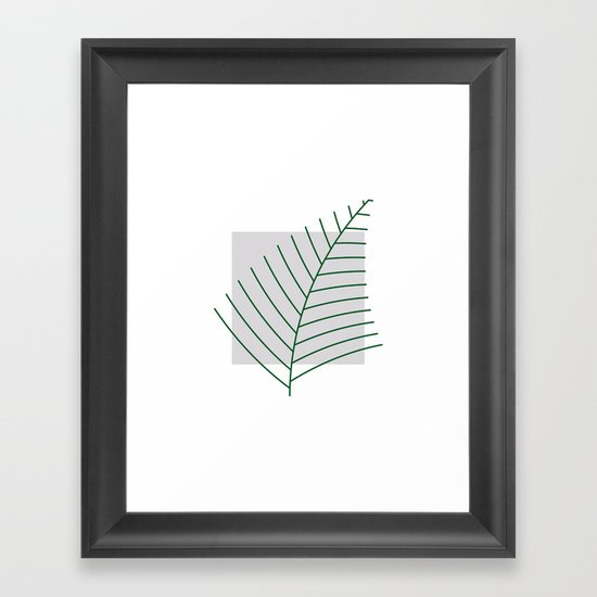 #290 Fern – Geometry Daily Framed Art Print