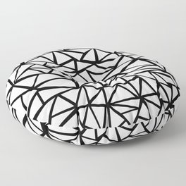 Mozaic Triangle White Floor Pillow
