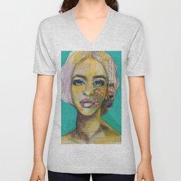 Bea Turquoise Unisex V-Neck