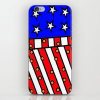 american iPhone & iPod Skins featuring American by Mariana