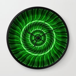 Watcher the Green Mandala Wall Clock