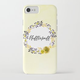HP Hufflepuff in Watercolor iPhone Case