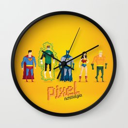 Justice League of America - Pixel Nostalgia Wall Clock