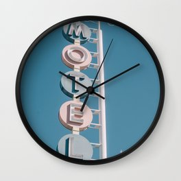 Motel signage Wall Clock