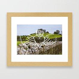claddagh to me Framed Art Print