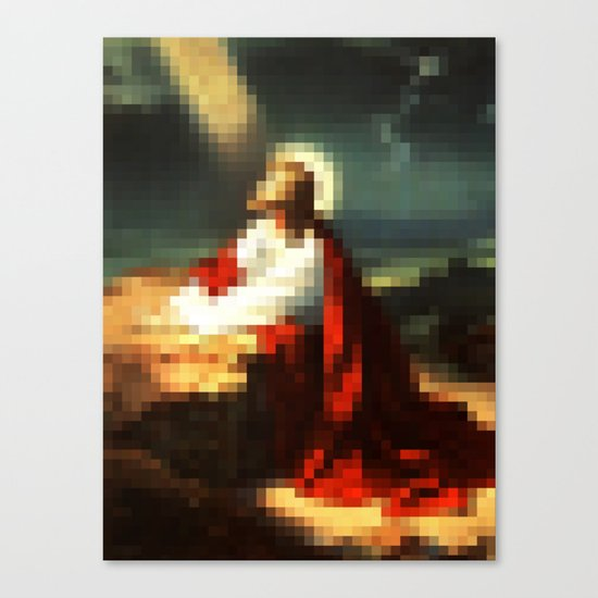 Digital Jesus Canvas Print