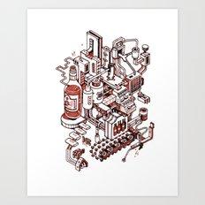 Small City - Brown Art Print