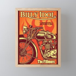 Billy Idol Show Poster Framed Mini Art Print