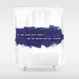 To the Stars that Listen (White) - A Court of Mist and Fury Shower Curtain