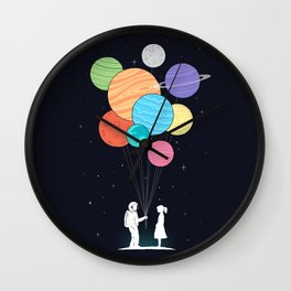You are my universe (black) Wall Clock