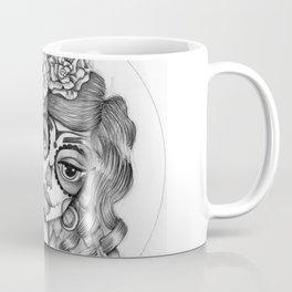 JennyMannoArt Graphite Illustration/Dias de los Muertos Coffee Mug