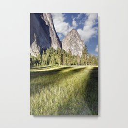 Cathedral Rocks in Yosemite Valley Metal Print