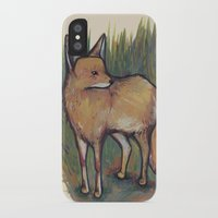 coyote iPhone & iPod Cases featuring Coyote by Kelsey Oseid