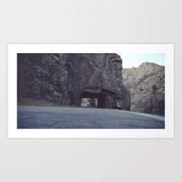 Hole In The Mountainside Art Print