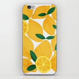 lemon mediterranean still life iPhone Skin