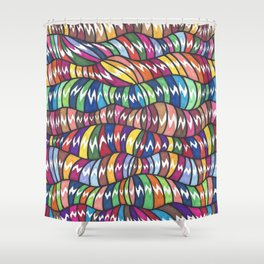 Wormies 5 Shower Curtain