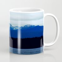 washington Mugs featuring Icy Washington  by Tara Yarte