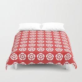 Oda Clan Samurai Pattern Duvet Cover