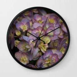 Light Purple Hydrangeas Wall Clock