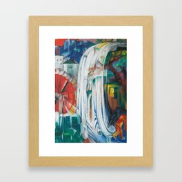 Franz Marc, The Bewitched Mill, 1913 Framed Art Print