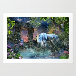 BlueGate Unicorn Art Print
