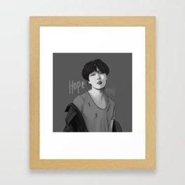 MONOCHROME JHOPE Framed Art Print