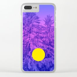 Winter Delight with Fir Trees Clear iPhone Case