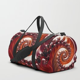 Beautiful Crimson Passion - The Heart of the Rose Fractal Duffle Bag