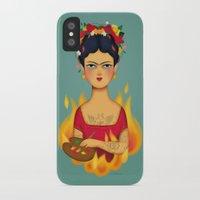 frida iPhone & iPod Cases featuring Frida by La Perera