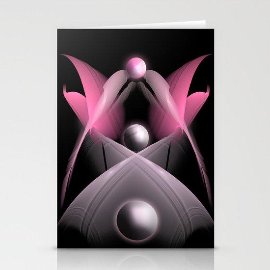 Pink Fractal Stationery Cards