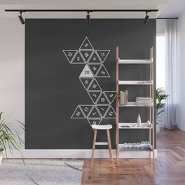 Unrolled D20 Wall Mural