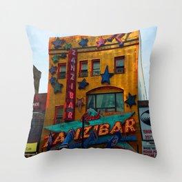 Yonge Street strip club, Toronto Throw Pillow