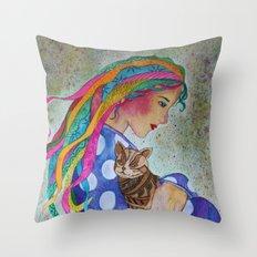 Love Flows Throw Pillow